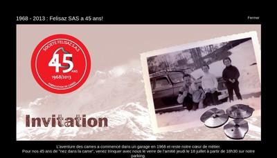 Site internet de Felisaz SAS