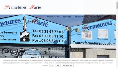 Site internet de Allo Fermetures Marie