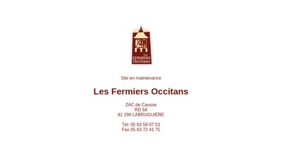 Site internet de Les Fermiers Occitans