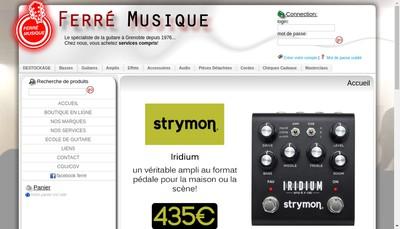Site internet de Societe Nouvelle Ferre Musique