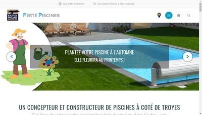 Site internet de Ferte Piscine