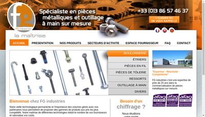 Site internet de FG Industries