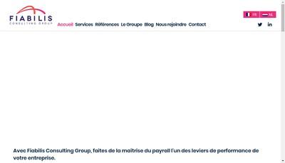 Site internet de Fiabilis Consulting Group
