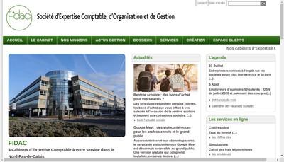 Site internet de Fidac Opale