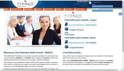 Site internet de Fidaco Developpement