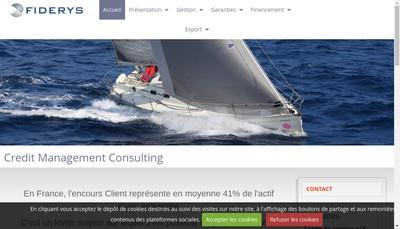 Site internet de Fiderys