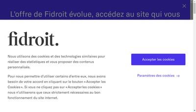Site internet de Fidroit