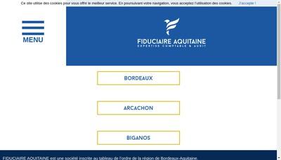 Site internet de Fiduciaire Aquitaine