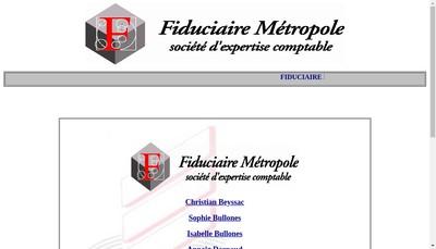 Site internet de Fiduciaire Metropole