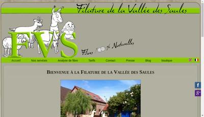 Site internet de Filature de la Vallee des Saules