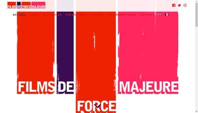 Site internet de Films de Force Majeure
