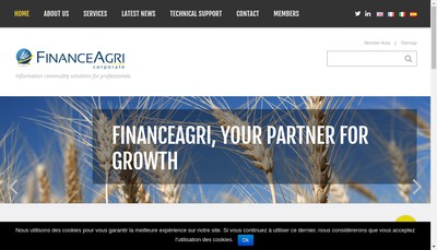 Site internet de Financeagri