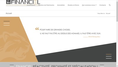 Site internet de Financiel