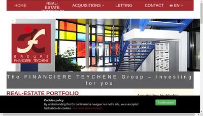 Site internet de Financiere Teychene
