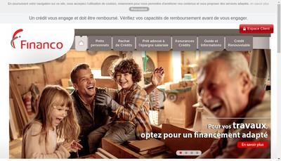 Site internet de Financo
