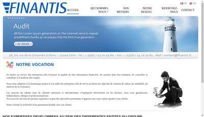 Site internet de Finantis Groupe