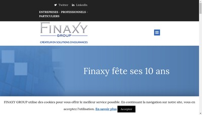 Site internet de Finaxy Group