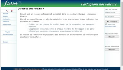 Site internet de Finlink