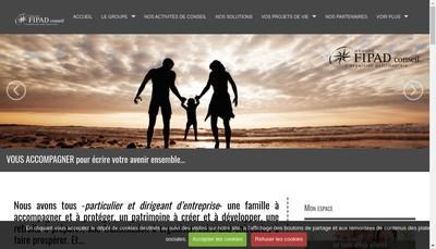 Site internet de Fipad Conseil