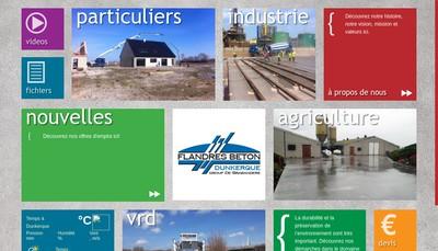 Site internet de Flandres Beton SARL