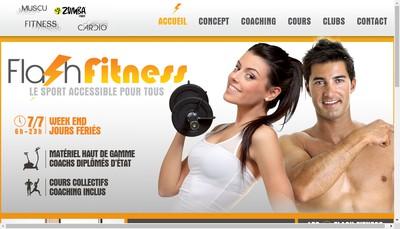 Site internet de Flash Fitness