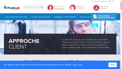 Site internet de Flashlab