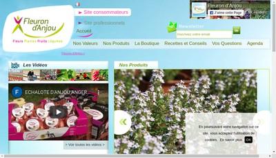 Site internet de Fleuron d'Anjou