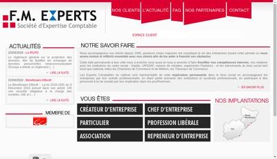 Site internet de FM Experts