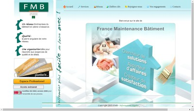 Site internet de France Maintenance du Batiment
