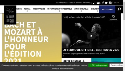 Site internet de La Folle Journee