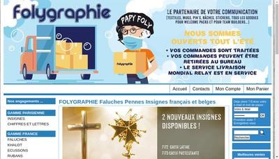 Site internet de Folygraphie