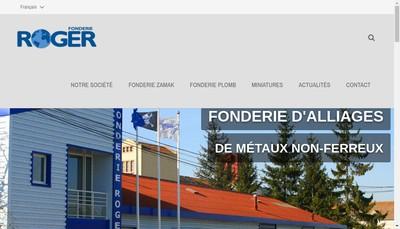 Site internet de Fonderie Roger
