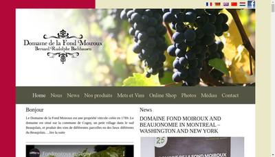 Site internet de Fond Moiroux et Moi