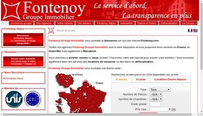 Site internet de Fontenoy Immobilier