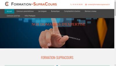 Site internet de Formation-Supracours