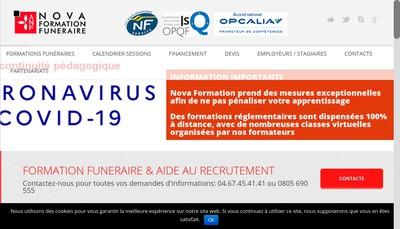 Site internet de Agence Nationale de Formation