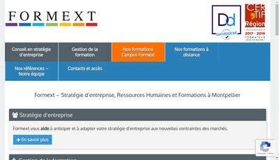 Site internet de Formext