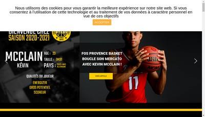 Site internet de Fos Provence Basket