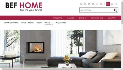 Site internet de Bef Home France