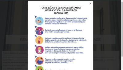 Site internet de France Batiment Renovation Entretien