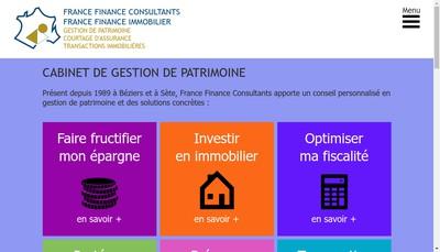 Site internet de France Finance Consultants