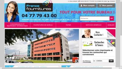 Site internet de France Fournitures