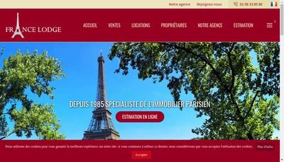 Site internet de France Lodge