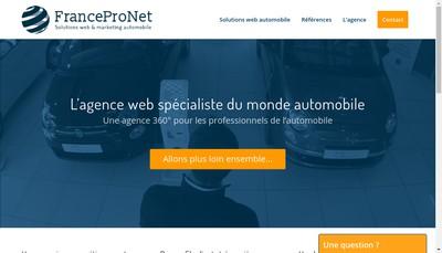 Site internet de Francepronet Auto -