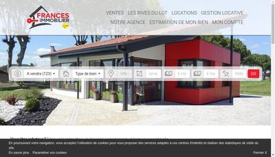 Site internet de Frances Immobilier