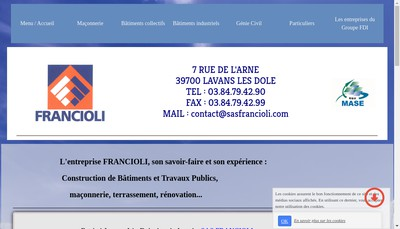 Site internet de Entreprise Francioli