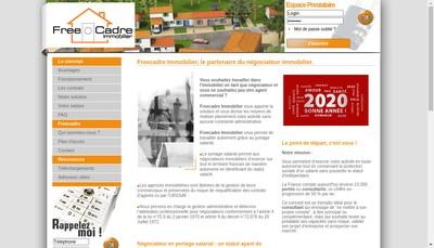 Site internet de Freecadre Immobilier Portage Salari Al