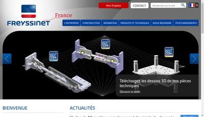 Site internet de Freyssinet International et Compagnie
