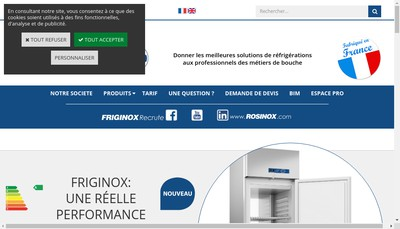 Site internet de Friginox SA