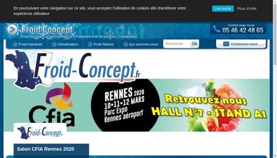 Site internet de S Froid Concept
